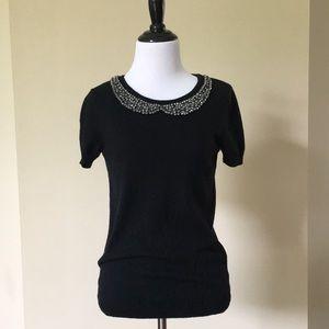 💙 Embellished short sleeve sweater